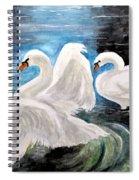 Swans In Love Spiral Notebook
