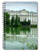 Swans On Austrian Lake Spiral Notebook