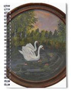 Swans On Lake Spiral Notebook