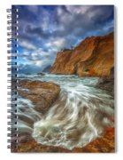 Sweeping Tides Spiral Notebook