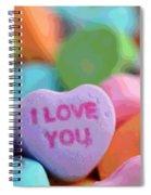 Sweet Hearts Spiral Notebook