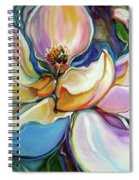 Sweet Magnoli Floral Abstract Spiral Notebook