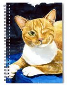 Sweet Melon - Ginger Tabby Cat Painting Spiral Notebook