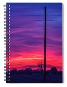 Sweet Nebraska Sunset 004 Spiral Notebook