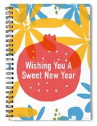 Sweet New Year Card- Art By Linda Woods Spiral Notebook