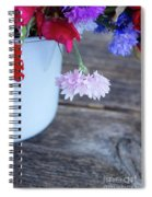 Sweet Pea And Corn Flowers Spiral Notebook