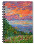 Sweet Pea Morning On The Blue Ridge Spiral Notebook