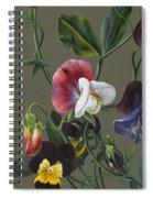 Sweet Peas And Violas Spiral Notebook