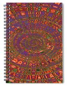 Sweet Pepper Melody Oval Abstract Spiral Notebook