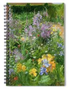 Sweet Rocket - Foxgloves And Irises Spiral Notebook