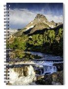 Swiftcurrent Falls Glacier Park 3 Spiral Notebook