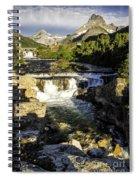 Swiftcurrent Falls Glacier Park 4 Spiral Notebook
