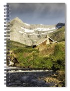 Swiftcurrent Falls Glacier Park Spiral Notebook