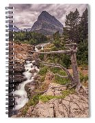 Swiftcurrent Lake Falls Spiral Notebook