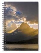 Swiftcurrent Lake Sundown Glacier N P Spiral Notebook