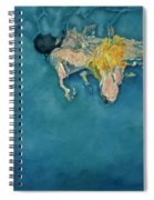Swimmer In Yellow Spiral Notebook