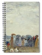 Swimmers On Trouville Beach Spiral Notebook