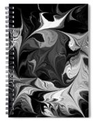 Swimming In Black And White - Abstract Spiral Notebook