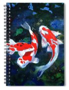 Swimming In Peace Spiral Notebook