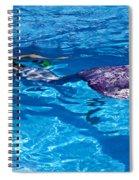 Swimming Mermaid Spiral Notebook