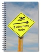 Swimming Sign Spiral Notebook