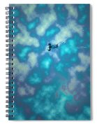 Swimming Through The Clouds Spiral Notebook