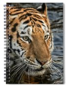Swimming Tiger Spiral Notebook