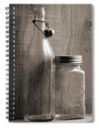 Jar And Bottle  Spiral Notebook