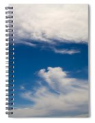 Swirl Of Clouds In A Blue Sky Spiral Notebook