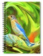 Swirling Bluebird Abstract Spiral Notebook
