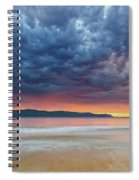Swirling Cloudy Sunrise Seascape Spiral Notebook