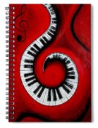 Swirling Piano Keys- Music In Motion Spiral Notebook