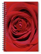 Swirling Red Silk Spiral Notebook