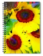 Swirling Sunflowers Spiral Notebook