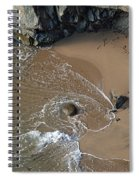 Swirling Surf And Rocks Spiral Notebook