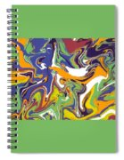 Swirls Drip Art Spiral Notebook