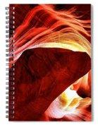 Swirls Of Fire Spiral Notebook