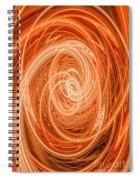 Swirls Of Orange Spiral Notebook