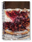 Swiss Custard Tart With Sour Cherries Spiral Notebook