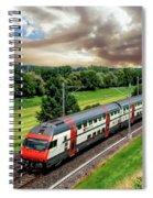 Swiss Passenger Train Spiral Notebook