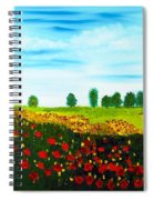Swiss Poppies Spiral Notebook