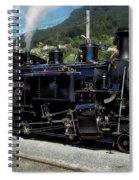 Swiss Steam Locomotive Spiral Notebook