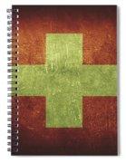 Switzerland Distressed Flag Dehner Spiral Notebook