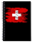 Switzerland Gift Country Flag Patriotic Travel Shirt Europe Light Spiral Notebook