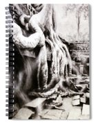 Sycamore Tree Overgrowing Ruins- Cambodia Spiral Notebook