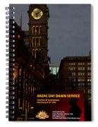 Sydney Clock On Anzac Day At Dawn Spiral Notebook