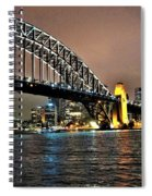 Sydney Harbor Bridge Night View Spiral Notebook