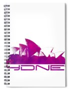 Sydney Skyline Purple Spiral Notebook