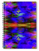 Symmetrical Reflection Spiral Notebook