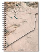 Syria Country 3d Render Topographic Map Neutral Border Spiral Notebook